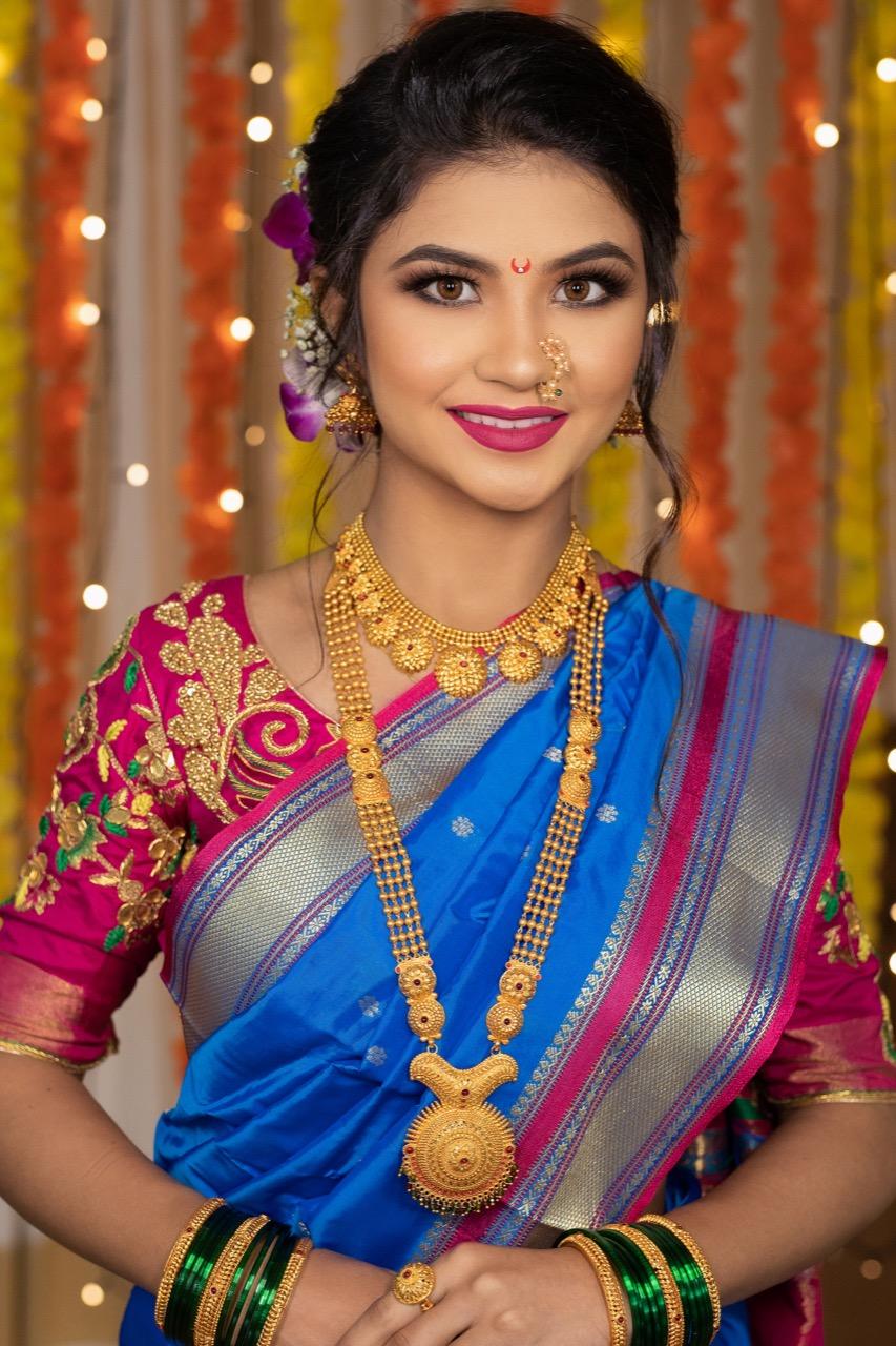 Nauvari Saree Marathi Wedding Look Pune Mumbai