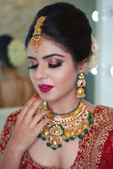 North India Bridal Makeup By Tejaswini Makeup Artist Pune