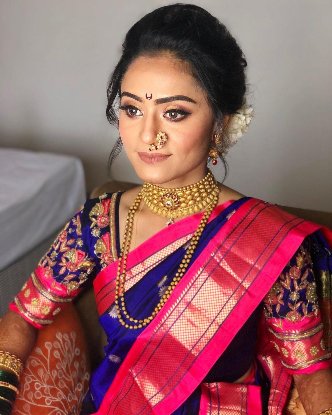 Royal Maharashtrian Bridal Makeup By Tejawini Makeup Artist Pune-1
