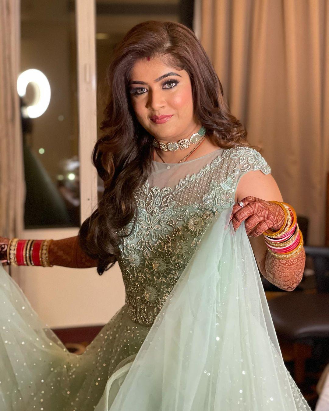 Marwari Reception Engagement Makeup Look Pune