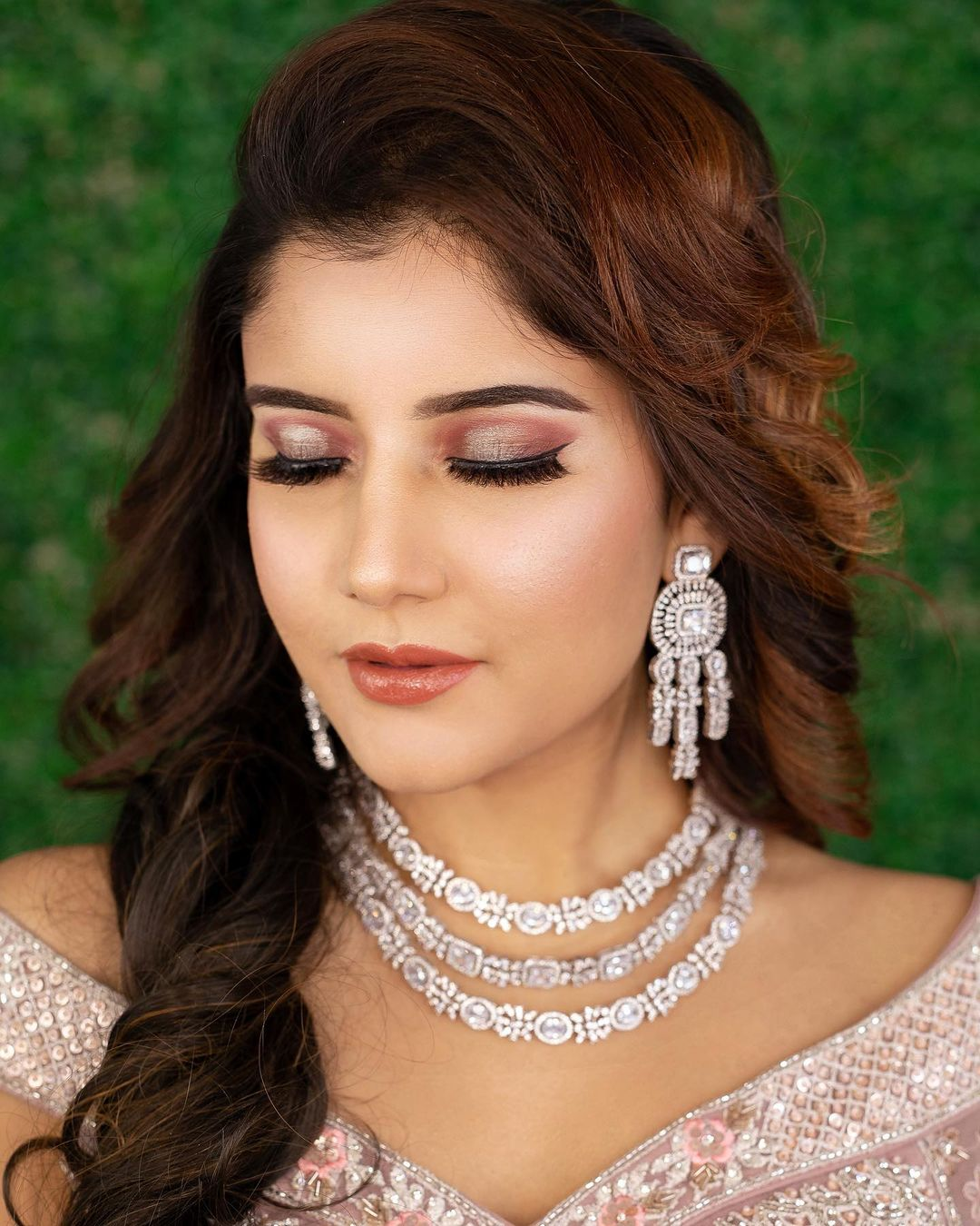 Soft Eye Makeup For Indian Reception Engagement