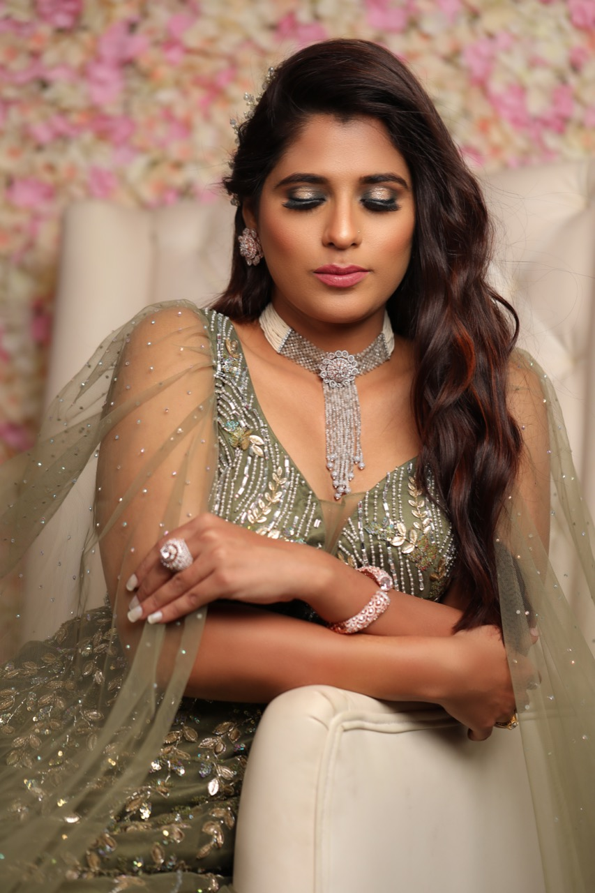 Soft Glam Reception Engagement Look By Tejaswini Makeup Artist Pune
